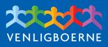 Logo blå baggrund hvid skrift 155×68 px